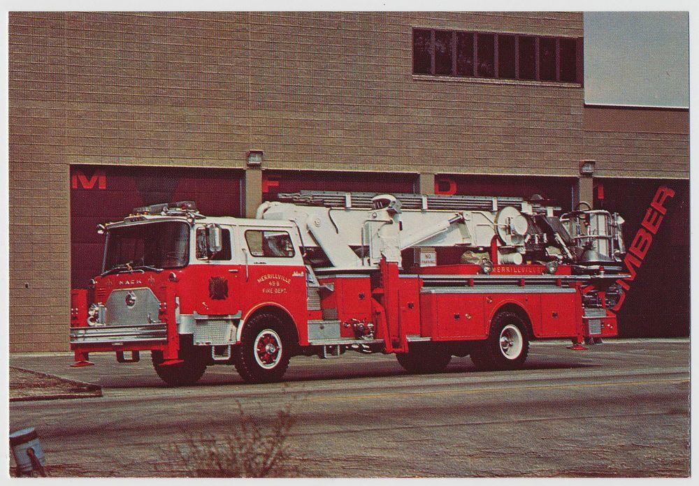 mack aerialscope tower fire truck merrillville indiana ladder