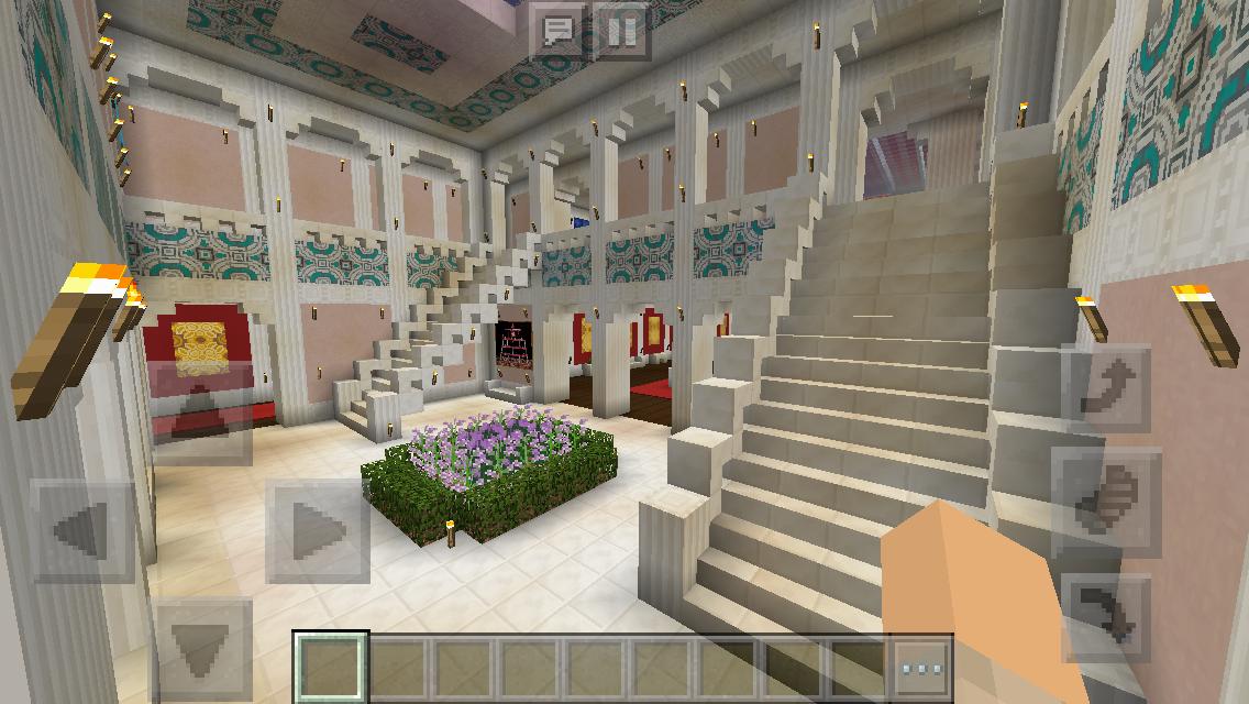 Upstairs Foyer Ideas : Richmond manor upstairs foyer minecraft interior design
