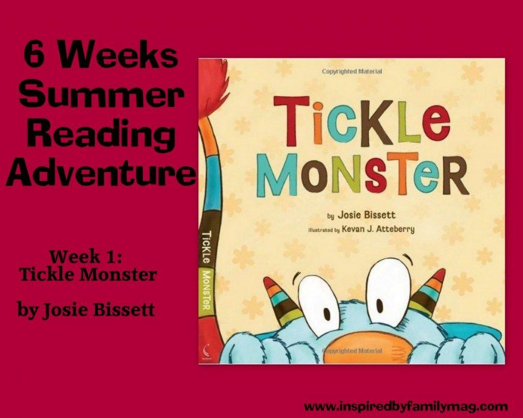 Summer Reading Adventure Tickle Monster Book Inspired