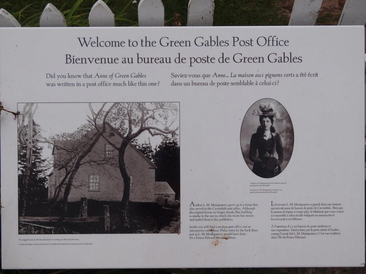 Destination green gables: cavendish post office lucy maud