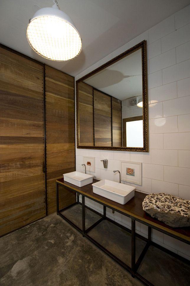 Restaurant Bathroom Design El Mercado Restaurant Restroom Cement Floor Wood Exposed