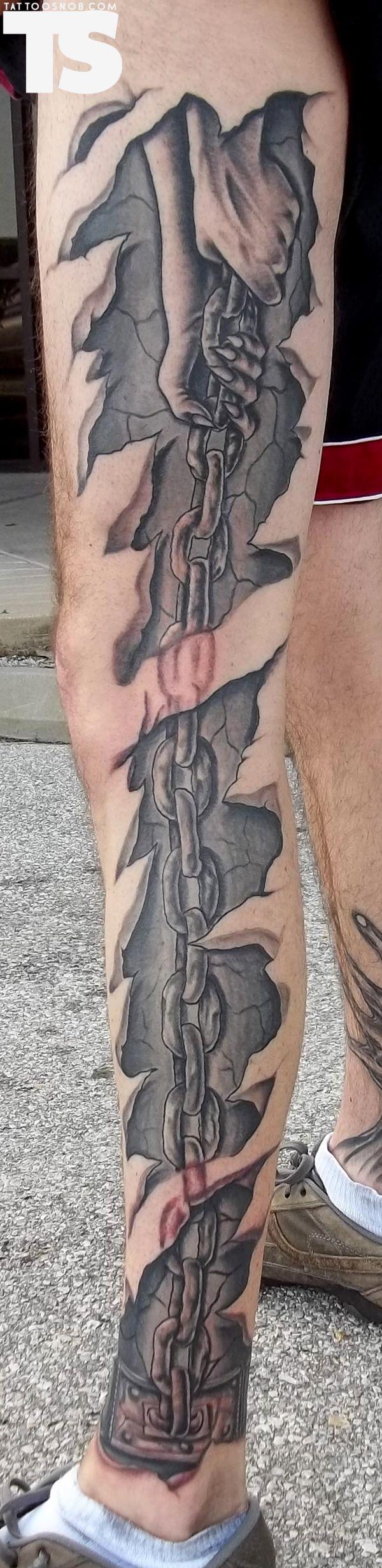 Tattoo by Matt Lang #inked #ink #tattoo #tattoos #tats #inkedmag #Tattoo #3d #Body Art