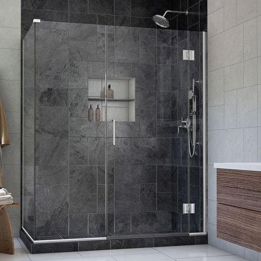 Unidoor X 59 In W X 30 3 8 In D X 72 In H Hinged Shower