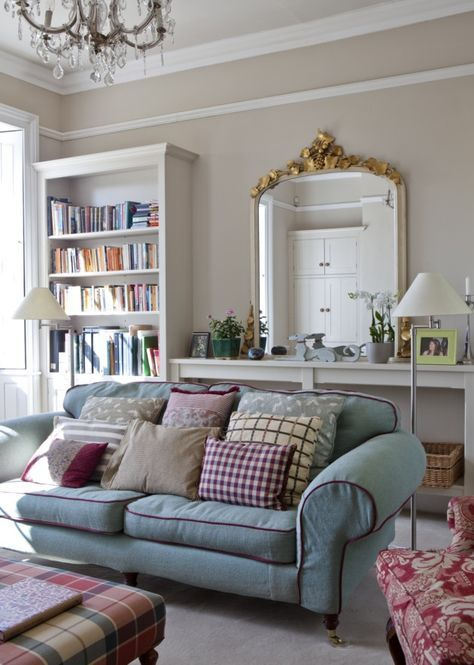 Sitting room painted in farrow and ball s joa s white - Dimity farrow and ball living room ...