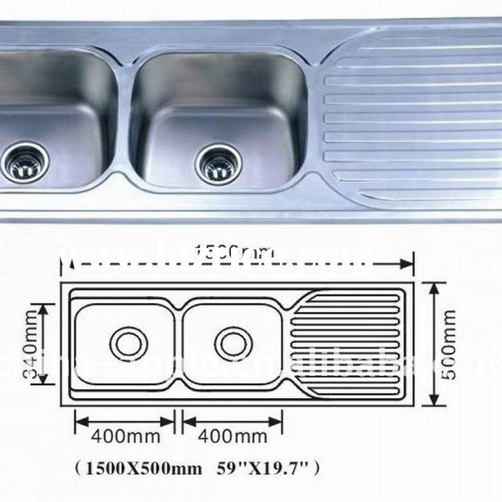 Standard Double Bowl Kitchen Sink Size