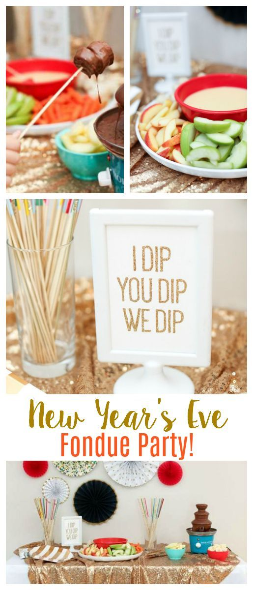 New Year's Eve Fondue Party for Kids