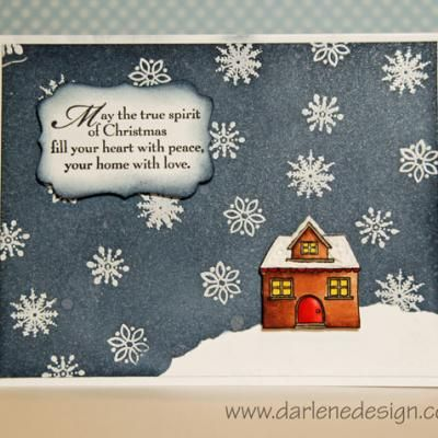 Peaceful winter holiday card handmade cards