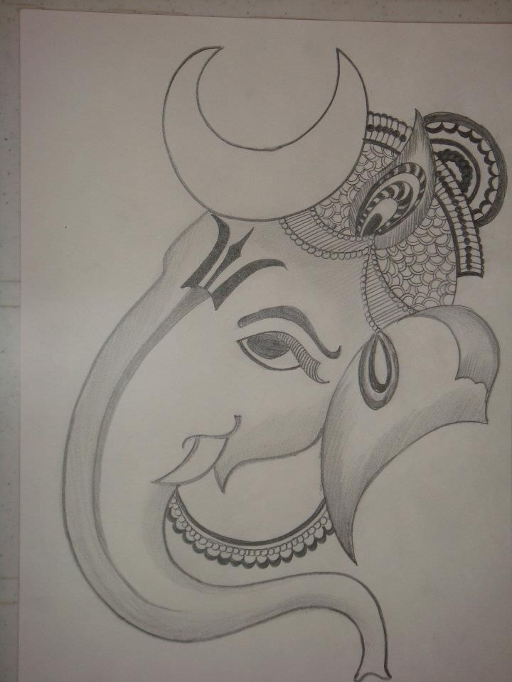 Easy Pencil Sketches Of Ganesha