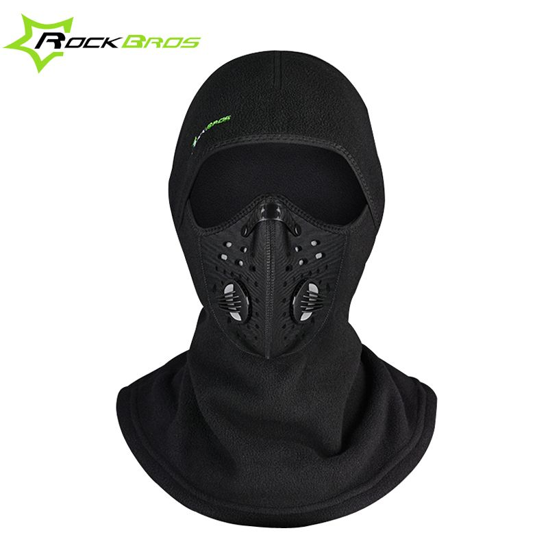 ROCKBROS Winter Balaclava Snowboard Face Mask Scarf Cycling Cap Windproof  Headwear Ski Face Shield Hat Black Thermal Mask Men 1d5217317