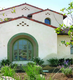 // Exterior // 7,272 square foot Spanish Colonial custom home. Boasts a Santa Barbara style bell tower, heavy timber exposed beams, authentic tiled archways, and terra cotta paved courtyards.