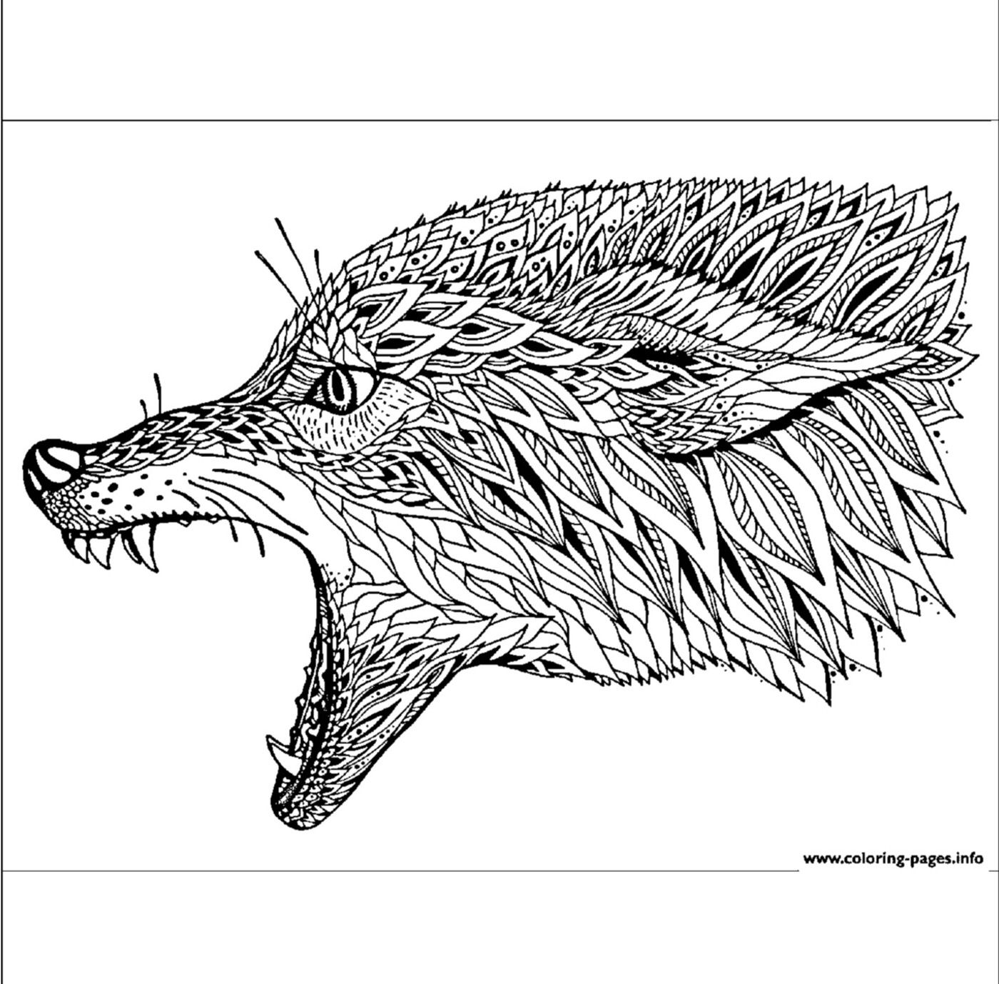 Animal Coloring Pages Coyote Animal Coloring Pages Adult