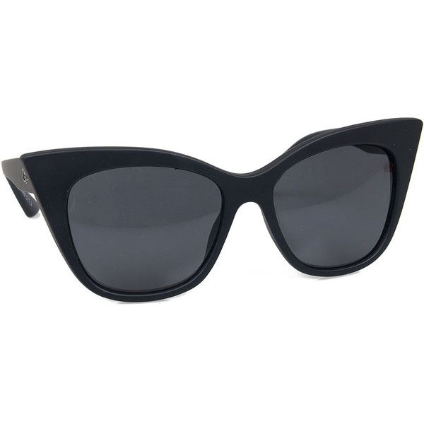 542f2b1aa4 Quay Matte Black Thick Modern Love Cat Eye Sunglasses (170 SAR) ❤ liked on  Polyvore featuring accessories