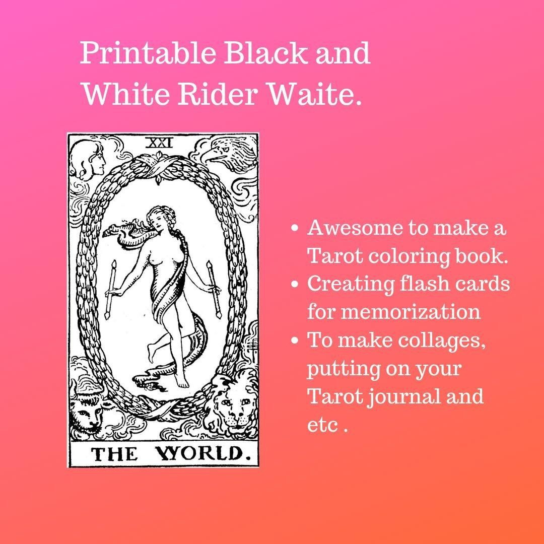 Black And White Tarot Card Deck Printable Tarot Etsy In 2020 Tarot Cards For Beginners Diy Tarot Cards Tarot Card Decks