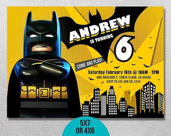 Lego Batman Invitation Lego Batman Birthday Lego Batman Party