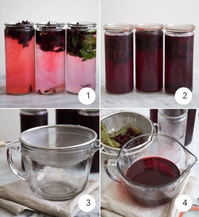 Cold Brew Hibiscus Tea Agua De Jamaica Recipe Hibiscus Tea