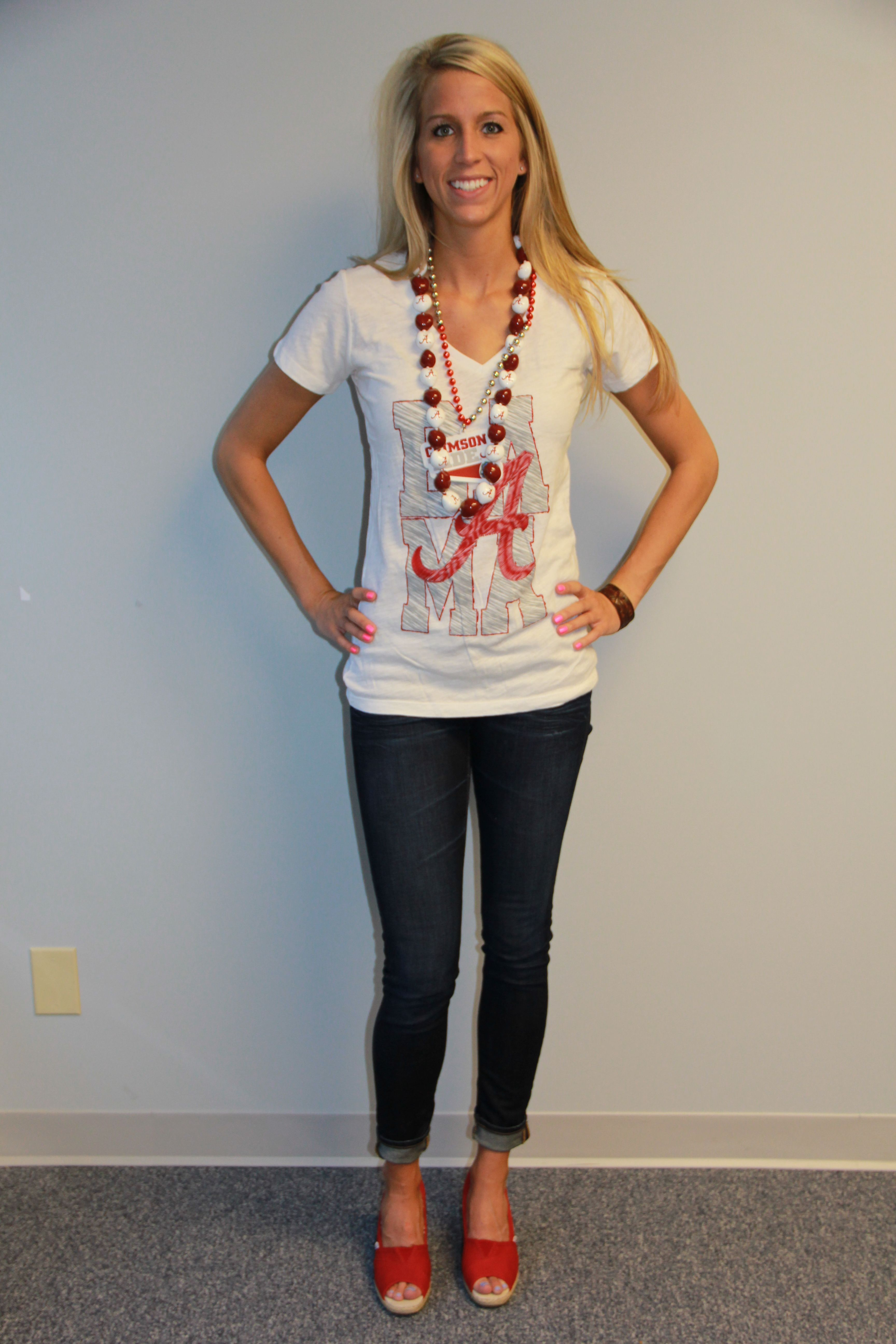 Some more tailgate outfits from Jordan Get your Alabama gear for