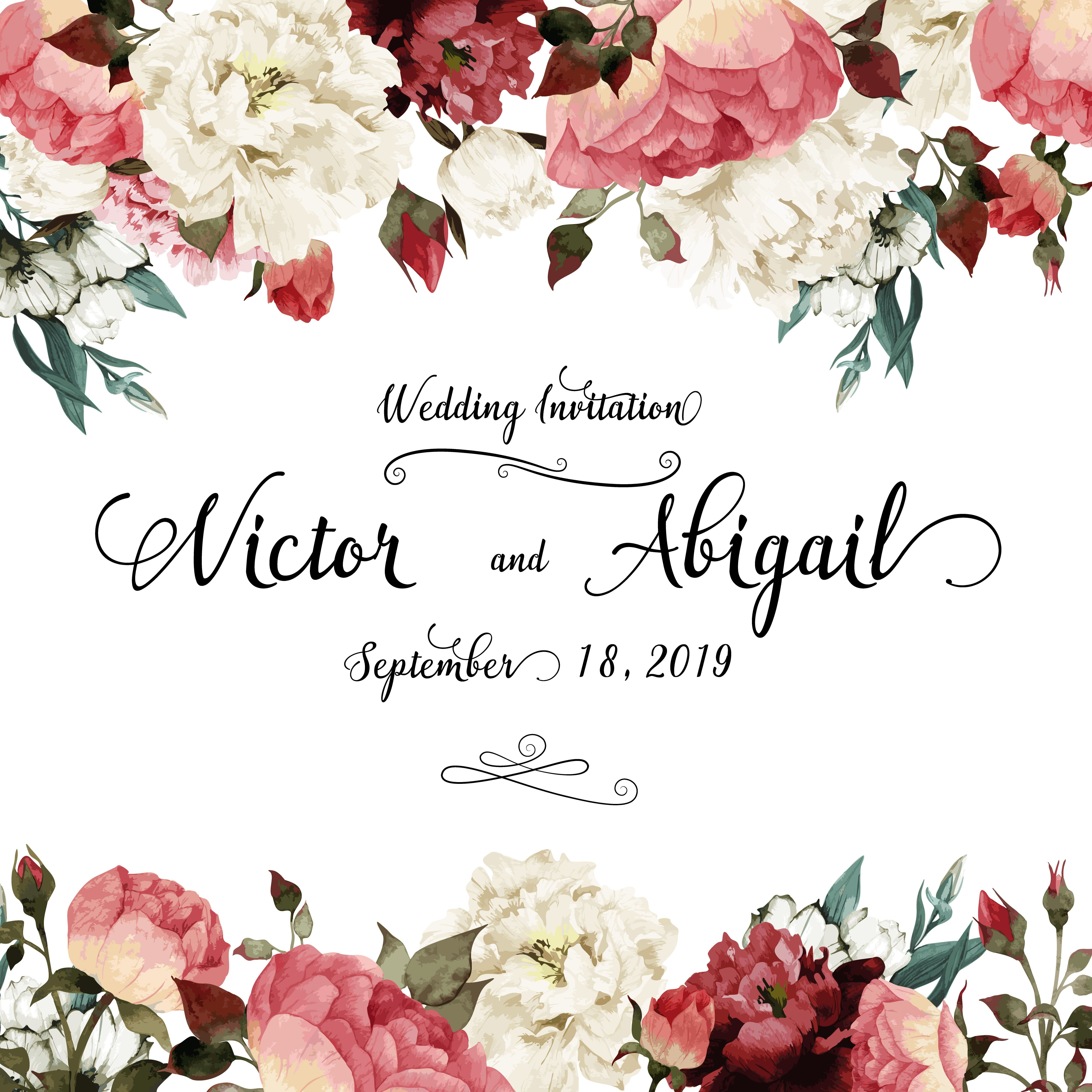 Flower Wedding Invitations 033 - Flower Wedding Invitations