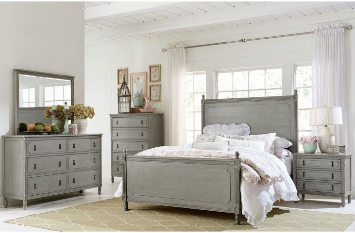 Aviana Grey Poster Bedroom Set from Homelegance Coleman Furniture - Poster Bedroom Sets