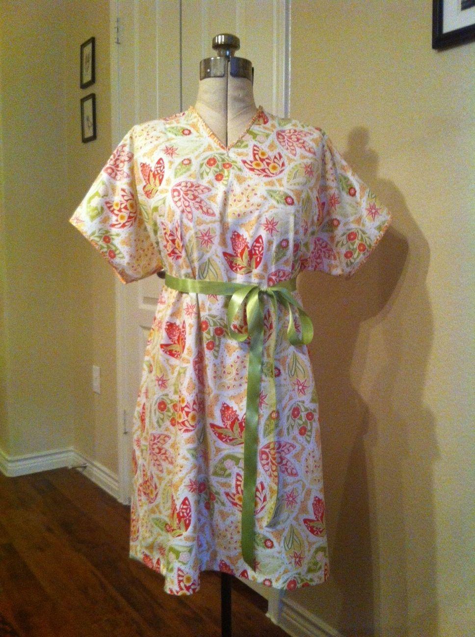 Diy Hospital Maternity Gown Opens In Back Both Shoulder