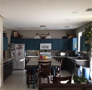 Annie Sloan Aubusson Blue Cabinets, Annie Sloan Blue Kitchen Cabinets