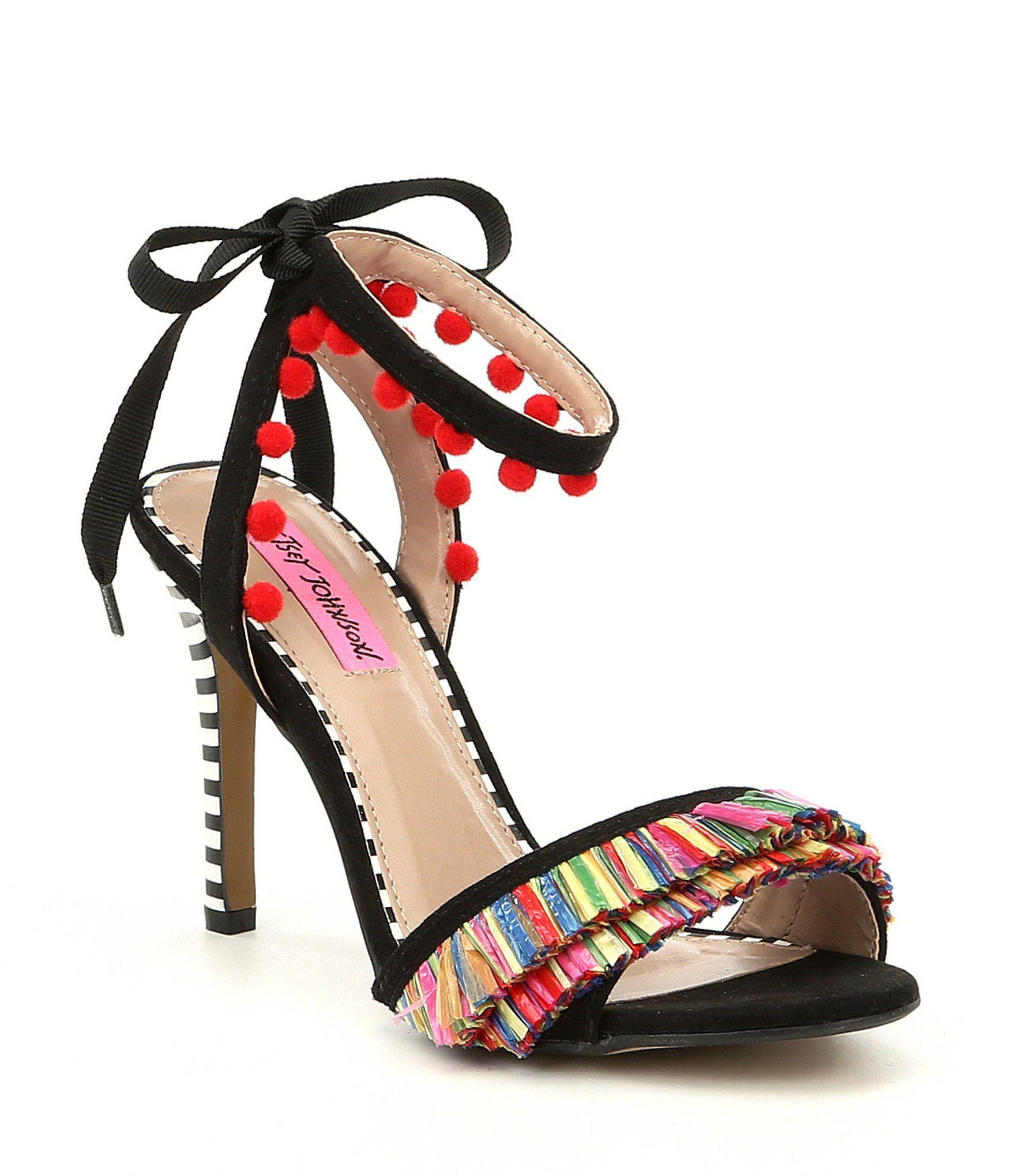 6f4f40ada52 Shop for Betsey Johnson Rina Tassel and Raffia Fringe Tie Sandals at ...