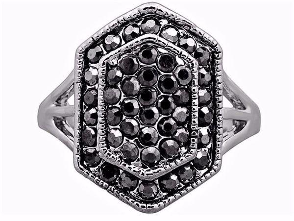Beautiful Antique Black Rhinestone Fashion Ring For Women Gift ... e9be8584ca9d