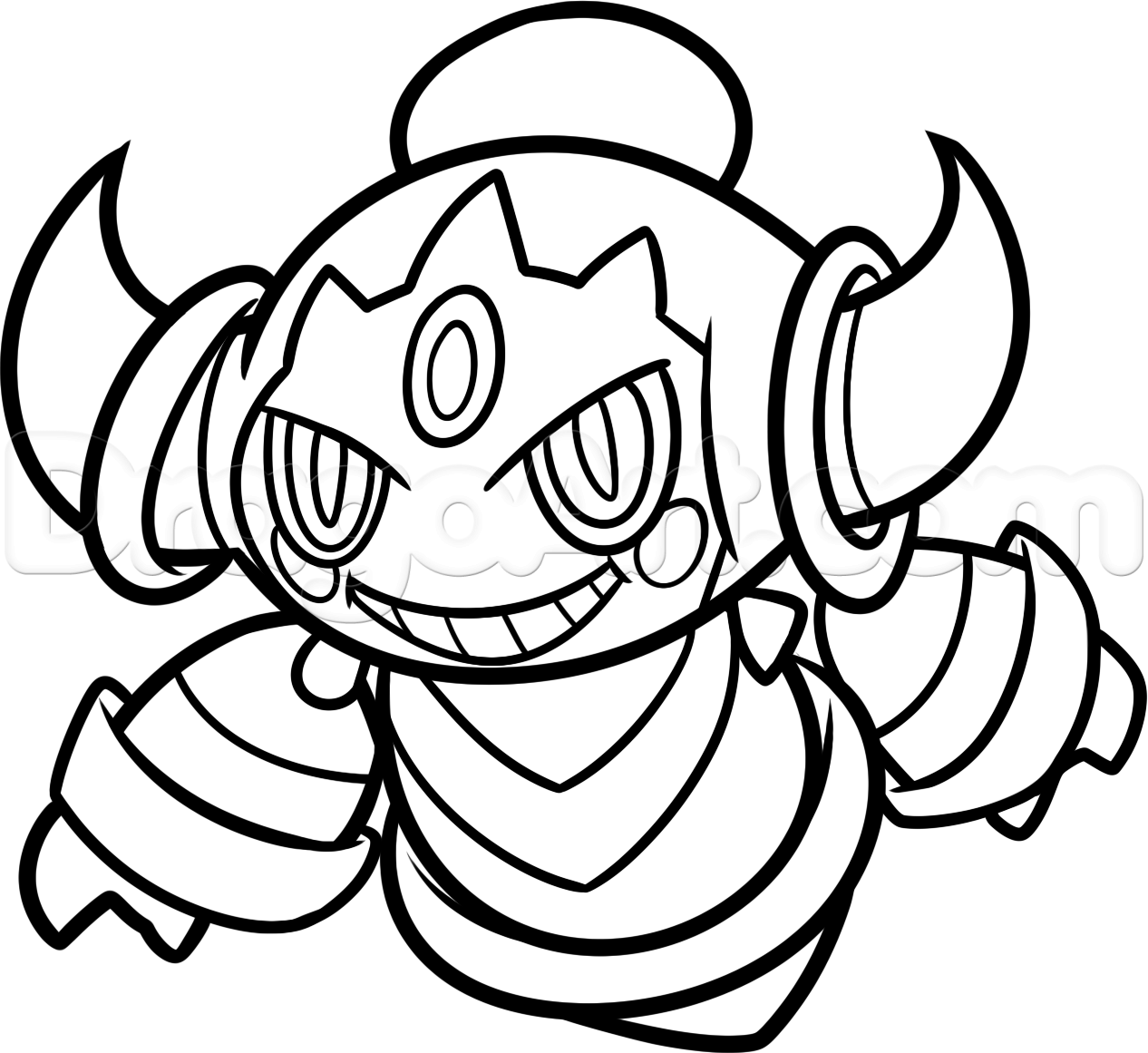 Pokemon coloring pages tepig - How To Draw Hoopa From Pokemon Step 10