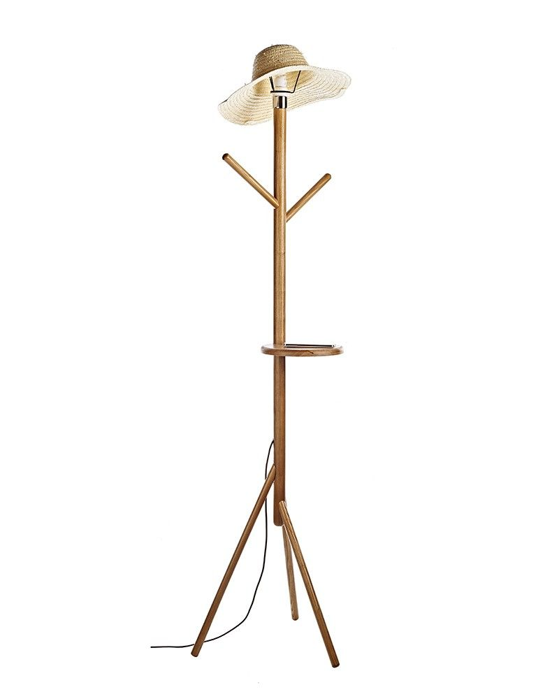 Straw Man Shaped Contemporary Wooden Floor Lamps Cheap