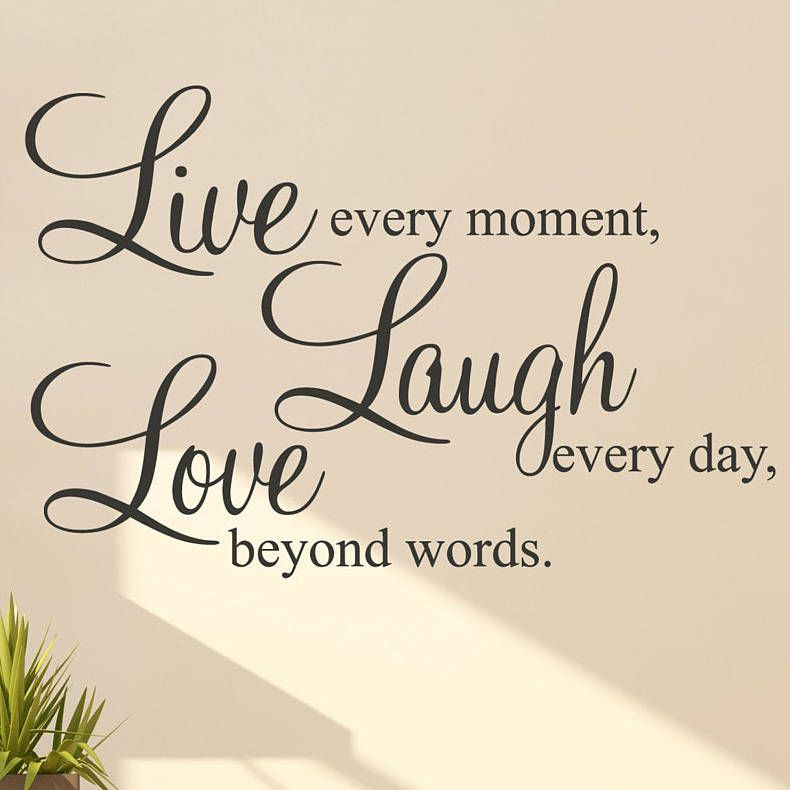 Live Laugh Love Wall Stickers Quotes Wall sticker, Interiors and Walls