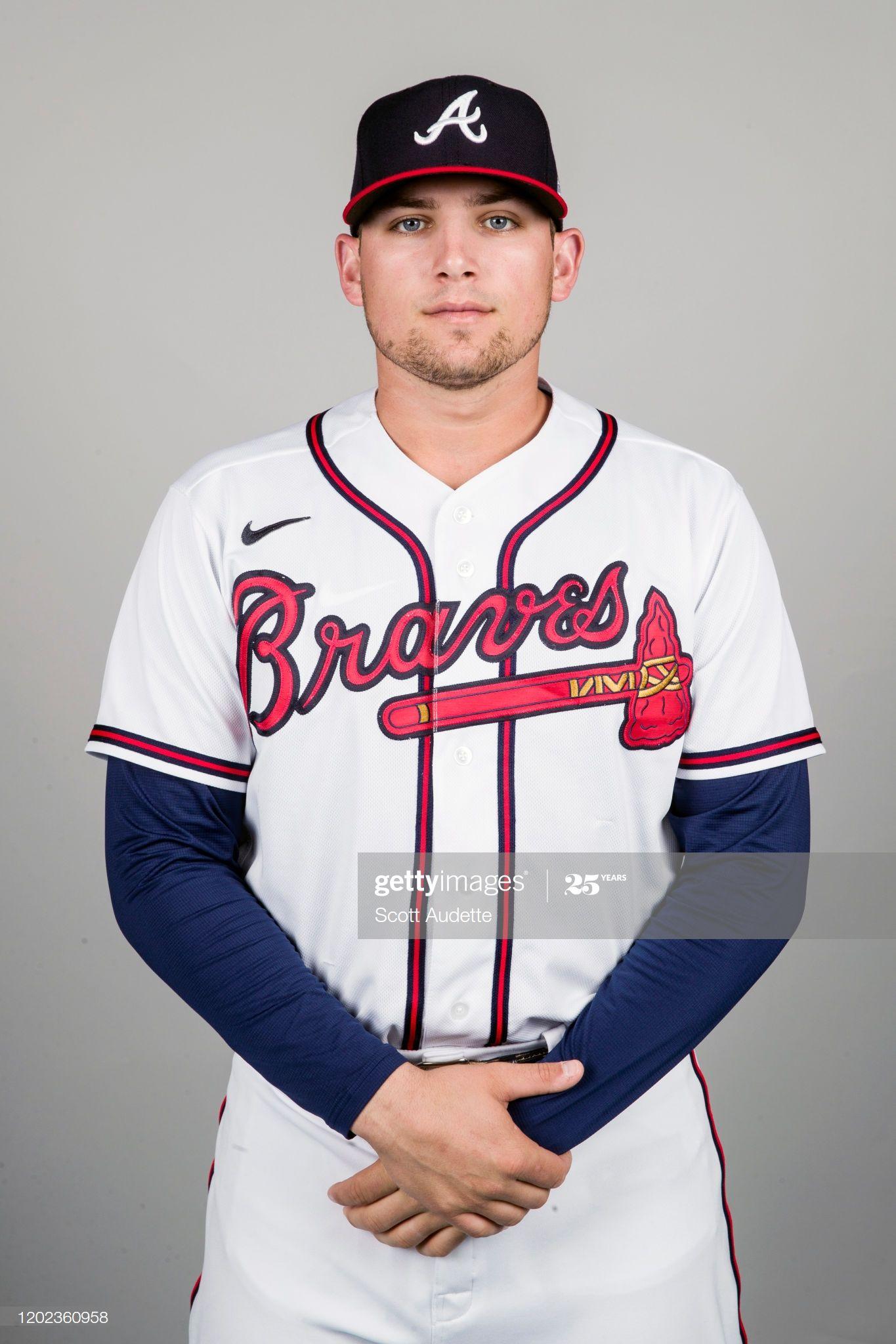 Austin Riley Of The Atlanta Braves Poses During Photo Day On In 2020 Atlanta Braves Braves Atlanta