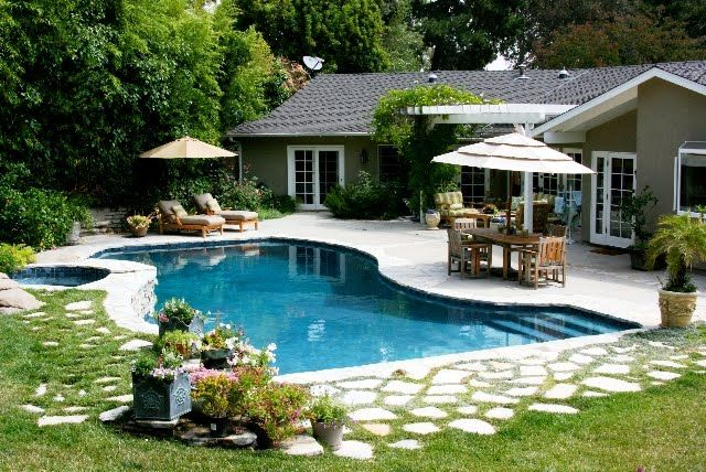 Back Yard Patio Ideas with Pool | Backyard Pool Ideas - WHAT TO DO WITH A COOL YARD SALE FIND? A VINTAGE WICKER PEACOCK
