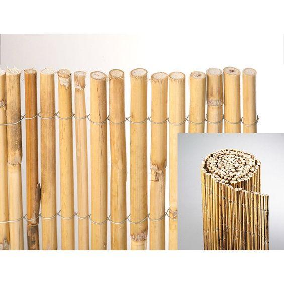 BambusTrennwand Natürlicher Sichtschutz für Garten und