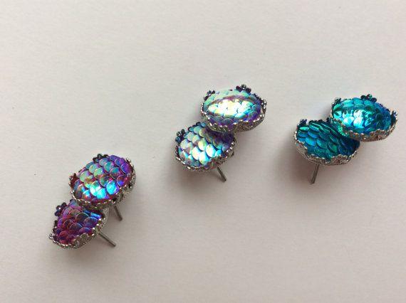 Boucles d'oreilles sirène, bijoux de l'océan, bijoux écailles de sirène, boucles d'oreilles, cadeaux, kawaii, boucles d'oreilles, sur mesure
