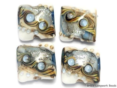 Grace-Lampwork-Beads-SRA-10411014-Four-Sweet-Blue-Stardust-Pillow-Beads