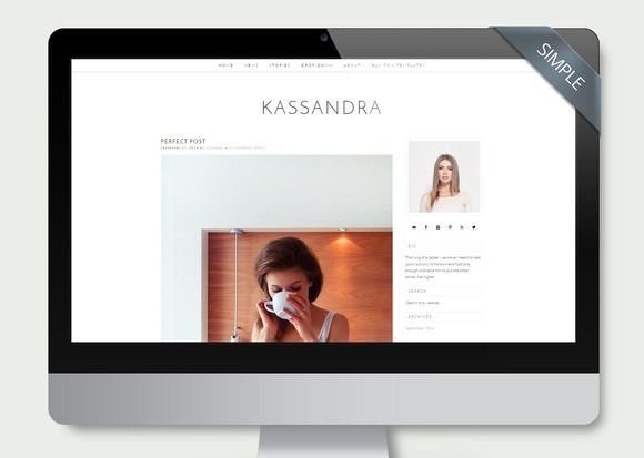 Kassandra - Wordpress Theme Simple by LucaLogos on Creative Market