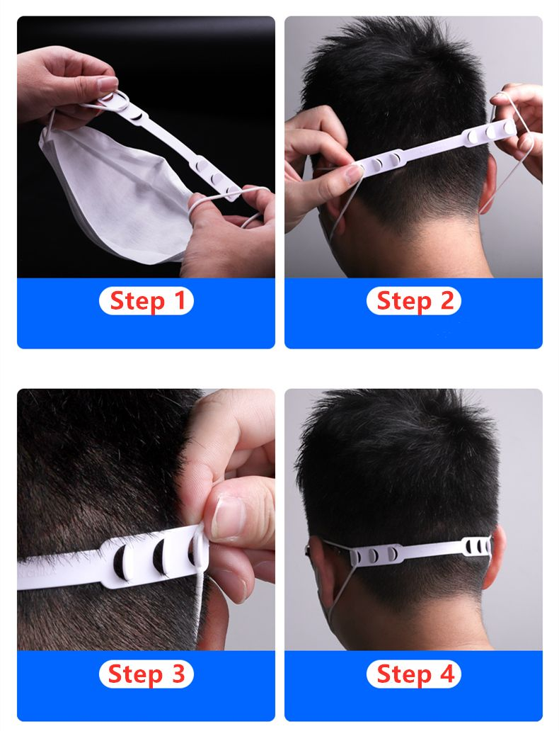 Aspire 6 Pcs Masks Strap Extenders Adjustable Mask Bands Extension