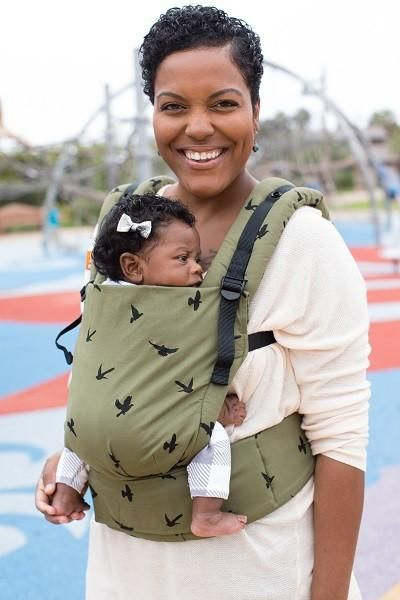 f7bd7d0387e Olive green with birds gender neutral baby carrier! Soar - Tula Free-to-Grow  Baby Carrier