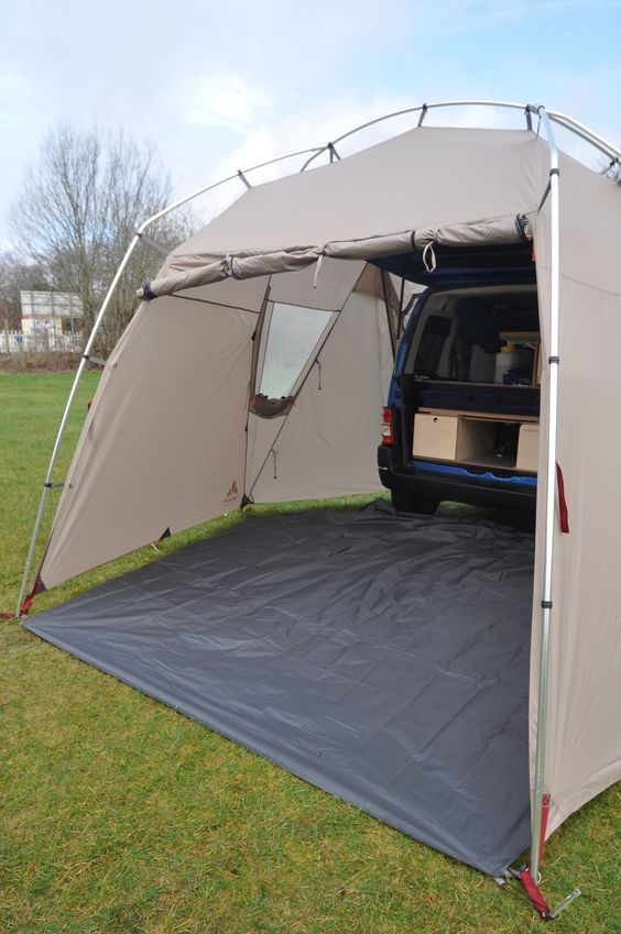Vaude Drive Van Driveaway Rear Van Awning Amdro Alternative Camper Conversions Amenagement Camionnette Astuces Rangement Camping Amenagement Jumpy