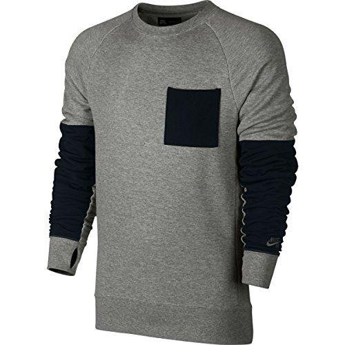 NIKE Nike Sb Everett Overlay Pocket French Terry Crew.  nike  cloth ... 51672d8ef16