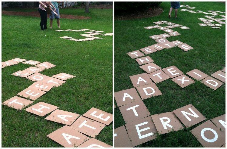 Outdoor scrabble aus karton selber machen spiele