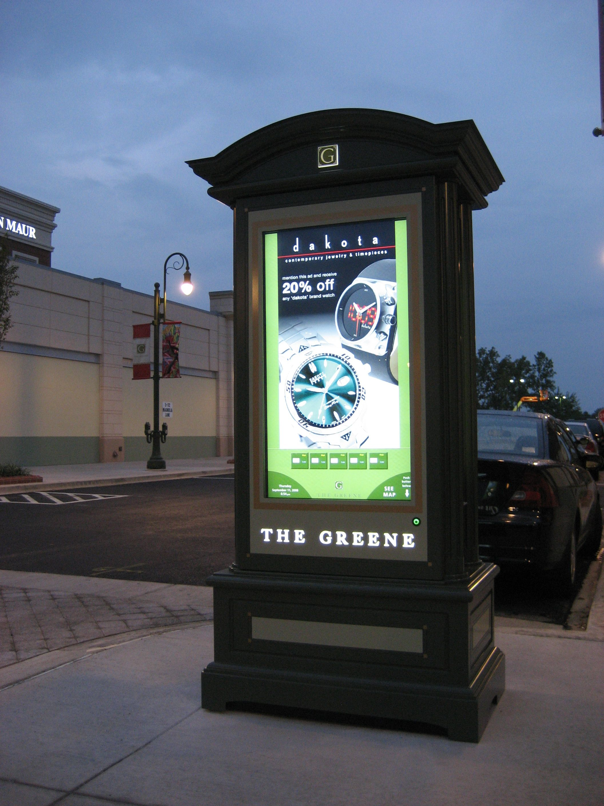 2 standard kiosk can be used to advertise events or for Exterior kiosk design