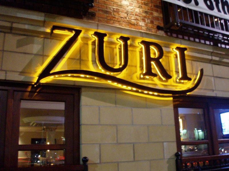 Exterior design of bars ash signs signage shops