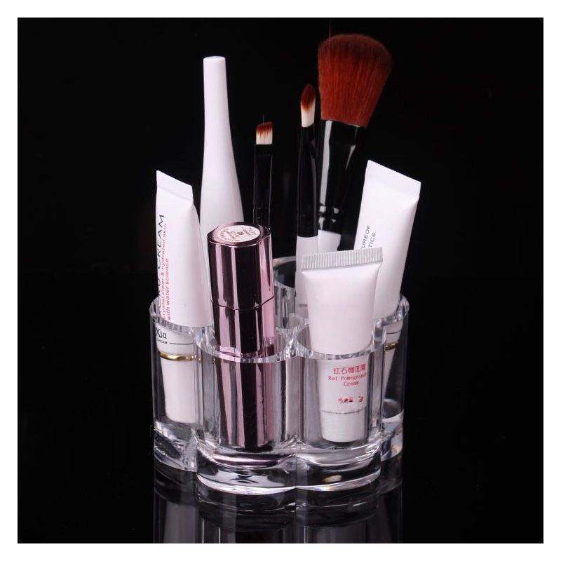 752d22fc4a30 1PCS Plum Flower Clear Acrylic Shaped Cosmetic Lipstick Brush Holder ...