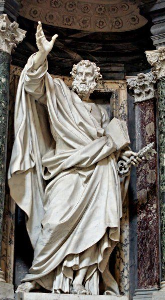 Pierre-Étienne Monnot.'s statue of St. Peter in the Archbasilica of St. John Lateran.
