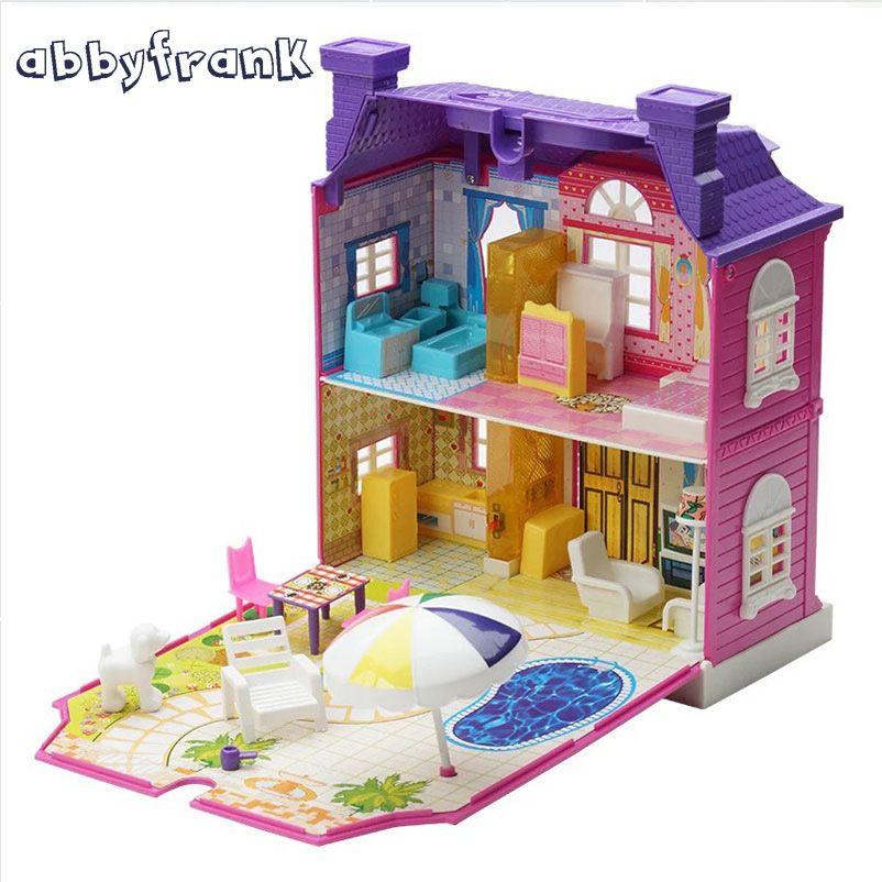 Us 25 89 3d Puppenhaus Miniatur Diy Haus Mit Licht Musik Wohnzimmer