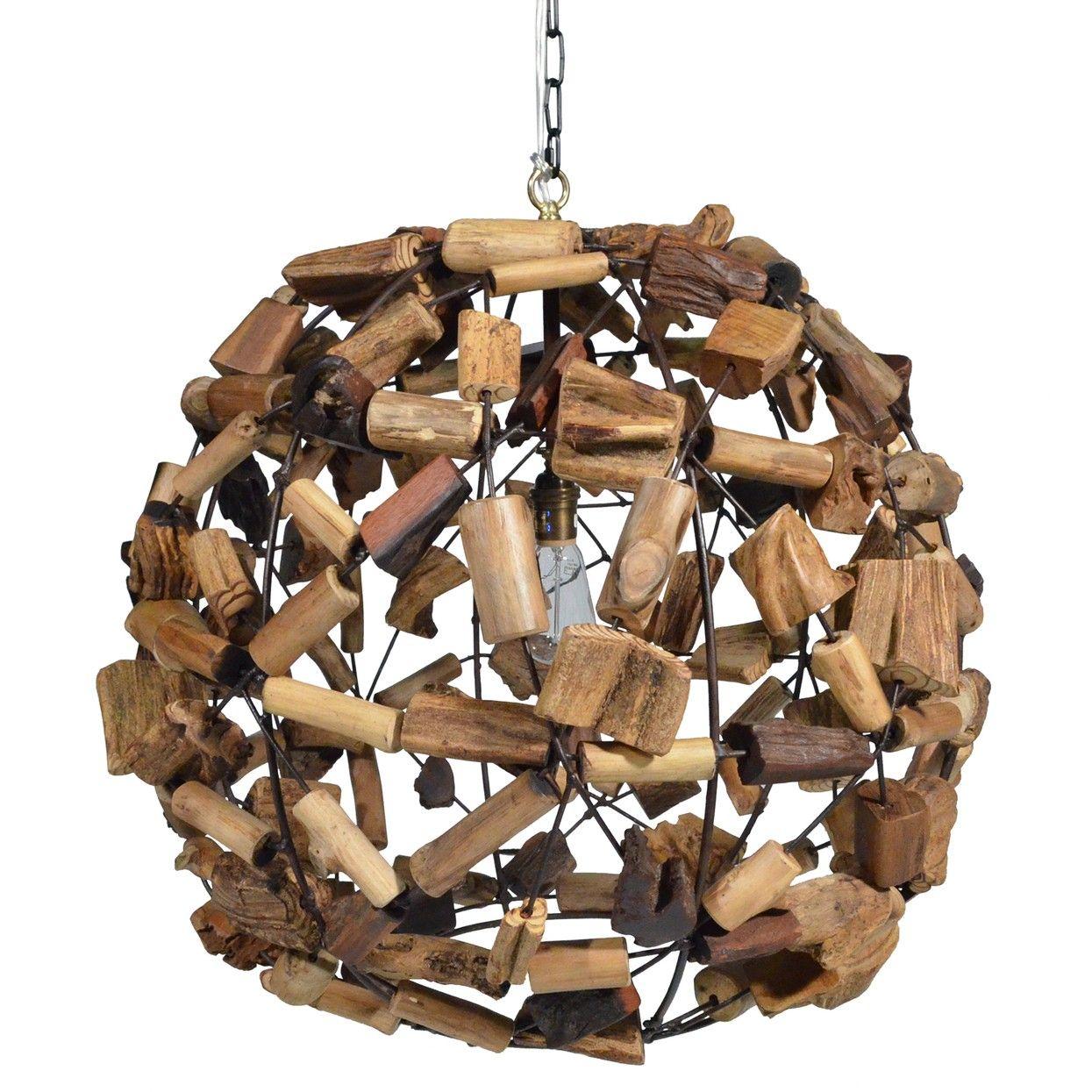 Palecek Driftwood Ball Chandelier http://www.plumgoose.com/palecek-driftwood-ball-chandelier.html