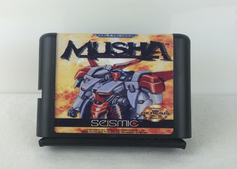 Musha Sega Genesis Reproduction By Nextogogames On Etsy Sega Genesis Sega Mega Drive Card Games