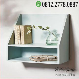 pusat rak dinding kayu minimalis termurah   rak dinding