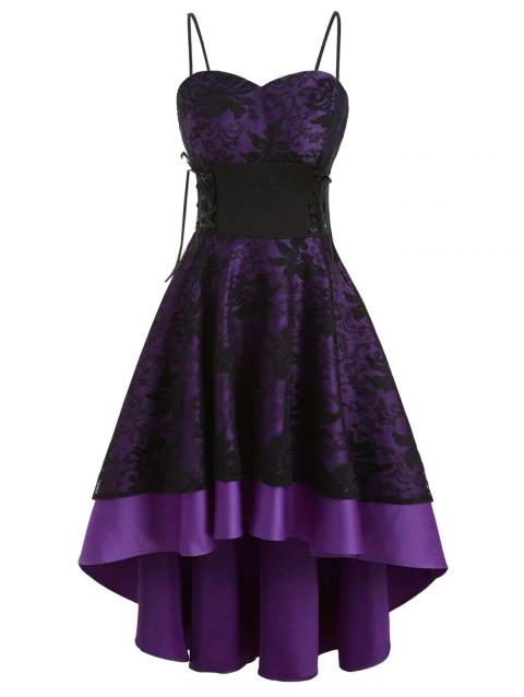 50++ Purple hi lo dress ideas