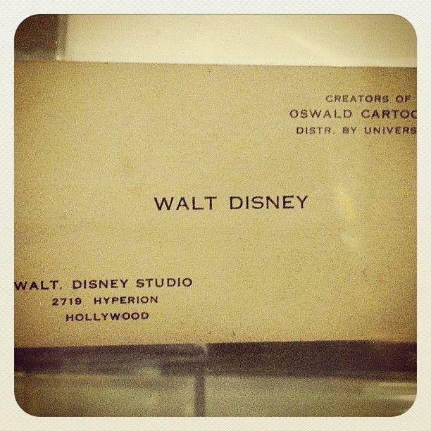 Walt Disney Business Card